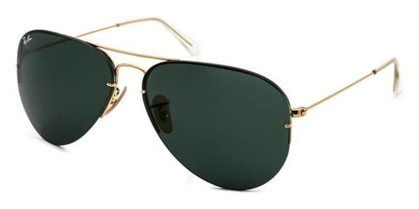 6223a3df72 Ray-Ban RB3460 Aviator Flip Out Polarized 001 71 B Sunglasses Gold ...