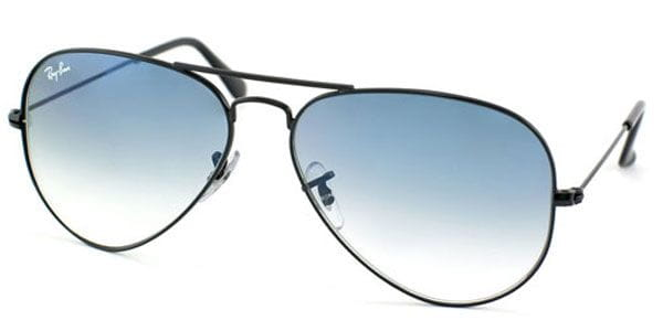 d322c030d0 Ray-Ban RB3025 Aviator Large Metal 002 3F Sunglasses in Black ...