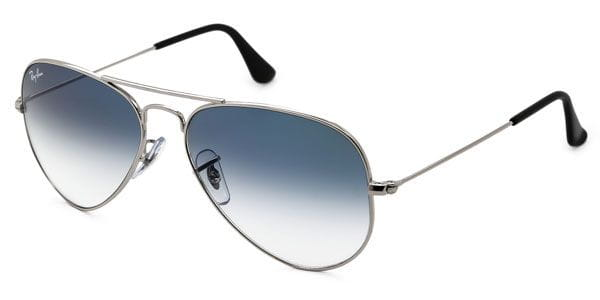 6ab14247a9 Ray-Ban RB3025 Aviator Gradient 003 3F Sunglasses Silver ...