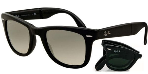 e5fc3b6719 Ray-Ban RB4105 Wayfarer Folding 601 32 Sunglasses Black ...