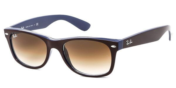 aa4ce8bbd8 Ray-Ban RB2132 New Wayfarer Color Mix 874 51 Sunglasses Blue ...