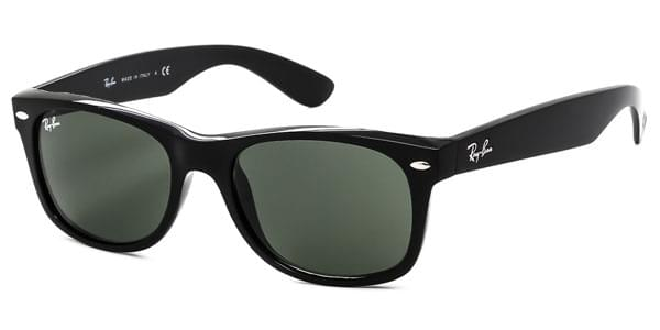 Ray-Ban RB2132 New Wayfarer 901 Sunglasses Black   VisionDirect ... 898bb96939