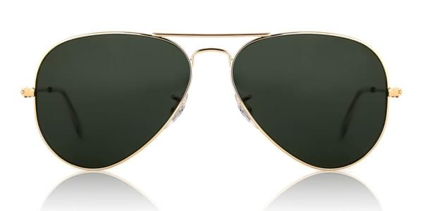 Ray-Ban RB3025 Aviator L0205 Sunglasses Gold | VisionDirect Australia