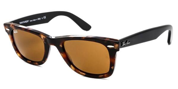 120d5b770390 Ray-Ban RB2140 Original Wayfarer Fleck 1160 Sunglasses in Brown ...