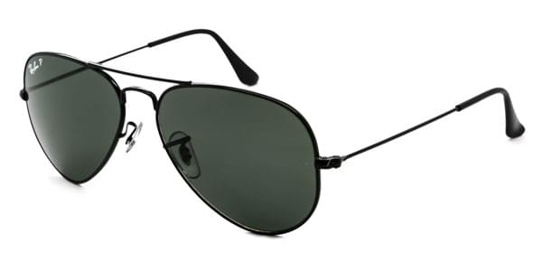 affd6a5563805 Ray-Ban RB3025 Aviator Polarized 002 58 Sunglasses Black ...