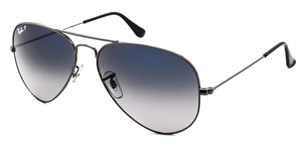 2793d1e13f669b Ray-Ban RB3025 Aviator Gradient Polarized 004 78 Sunglasses Grey ...