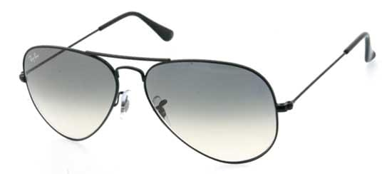 Ray-Ban RB3025 Aviator Large Metal 002 32 Sunglasses in Black ... 6c66e4398b1
