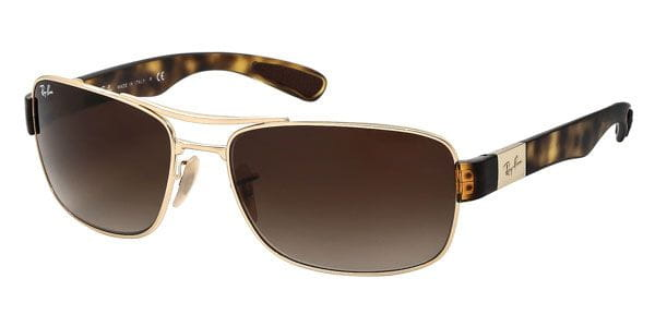 e5ede9612c Ray-Ban RB3522 Active Lifestyle 001 13 Sunglasses Gold ...