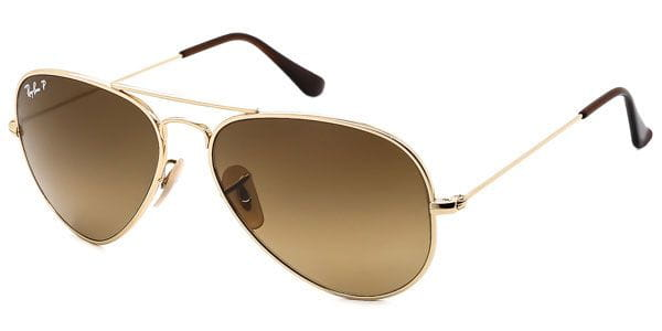 eeeb2b5349e Ray-Ban RB8041 Aviator Titanium Polarized 001 M2 Sunglasses Gold ...