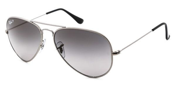 c54ca03a67 Ray-Ban RB8041 Aviator Titanium Polarized 086 M3 A Sunglasses in ...