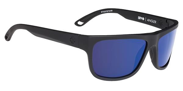 c94879d90e5 Spy ANGLER Polarized SOFT MATTE BLACK - HAPPY BRONZE POLAR W  DARK BLUE SPECTRA  Sunglasses