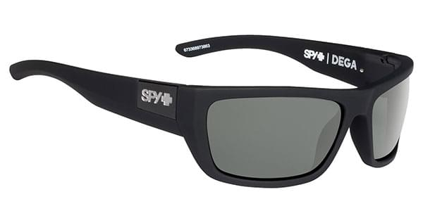 da9f1ca442962 Spy DEGA Polarized Soft Matte Black - Happy Gray Green Polar Sunglasses