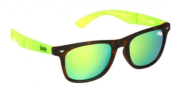 Superdry Supergami Wayfarer Sunglasses Green