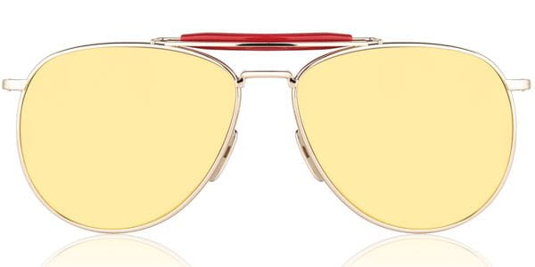 Thom Browne Aviator Rose Gold Mirrored TB 015 LTD GLD
