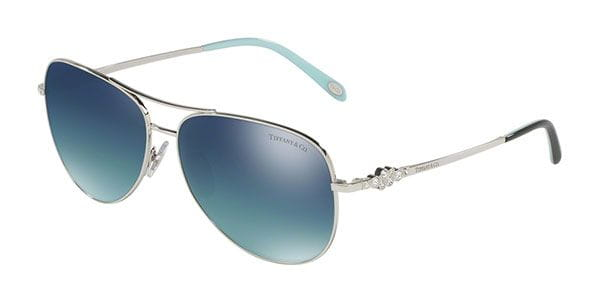 e105062832af Tiffany   Co. TF3052B Polarized 60014Y Sunglasses in Silver ...