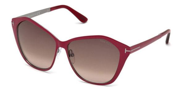 255ea0b692b7a Óculos de Sol Tom Ford FT0391 LENA 69Z Bordô   OculosWorld Brasil