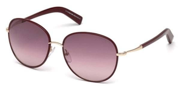 81eeebc82599f Óculos de Sol Tom Ford FT0498 69T Bordô   OculosWorld Brasil