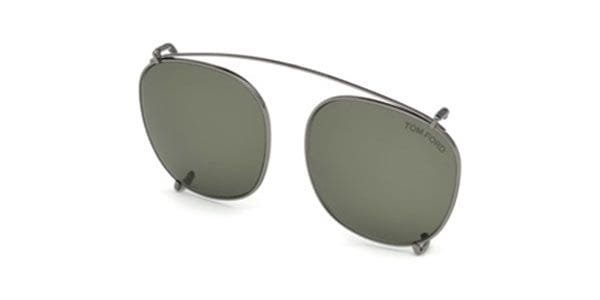 59f054ccf749 Tom Ford FT5495-CL Clip On 08N Sunglasses in Grey