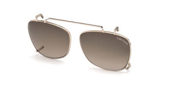 61036c3dac7f0 Tom Ford FT5514-CL Clip On 28K Sunglasses Gold