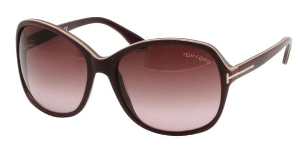 4ba73921e4b97 Óculos de Sol Tom Ford FT0186 SHEILA 83Z Bordô   OculosWorld Brasil