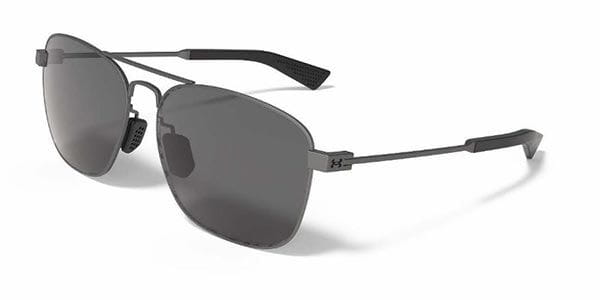 2dd8a98c32e39 Óculos de Sol Under Armour Rally Polarized 8640100-910108 Cinza ...